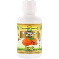 3 PACK OF Dynamic Health  Laboratories, Turmeric Gold, 100% Turmeric Juice, 16 fl oz (473 ml)