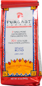 3 PACK of Puroast Low Acid Ground Coffee House Blend -- 12 oz