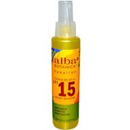 Alba Botanica, Coconut Dry Oil, Natural Sunscreen,  SPF 15, 4.5 fl oz (133 ml)