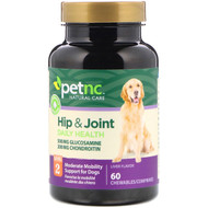 3 PACK OF petnc NATURAL CARE, Hip & Joint, Level 2, Liver Flavor, 60 Chewables