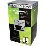 Harney & Sons, Organic Green Tea with Citrus & Ginkgo, 20 Tea Bags, 1.42 oz (40 g)