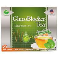 3 PACK OF Longreen Corporation, GlucoBlocker Tea, 20 Tea Bags, 2.12 oz (60 g)