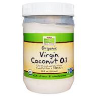 Now Foods, Real Food, Organic Virgin Coconut Oil, 20 fl oz (591 ml)