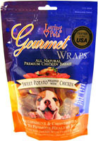 3 PACK of Loving Pets Gourmet Wraps Sweet Potato Wrapped with Chicken -- 8 oz