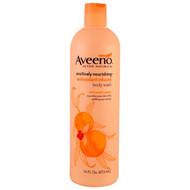 3 PACK OF Aveeno, Positively Nourishing Antioxidant Infused Body Wash, White Peach + Ginger, 16 fl oz (473 ml)