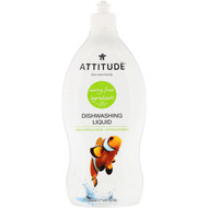 ATTITUDE, Dishwashing Liquid, Green Apple & Basil, 23.7 fl oz (700 ml)