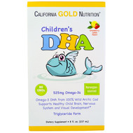California Gold Nutrition, Childrens DHA, Strawberry-Lemon Flavor, 525 mg Omega-3s, 8 fl oz (237 ml)