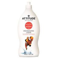 3 PACK OF ATTITUDE, Dishwashing Liquid, Pink Grapefruit, 23.7 fl oz (700 ml)