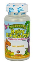 3 PACK of KAL Dinosaurs Baby Bifidactyl Probiotic 2.6 Billion for Kids Unflavored -- 2.5 oz