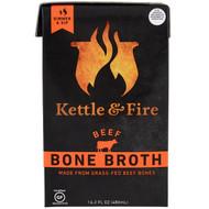 3 PACK OF Kettle & Fire, Bone Broth, Beef, 16.2 fl oz (480 ml)