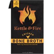 3 PACK OF Kettle & Fire, Bone Broth, Chicken, 16.2 fl oz (480 ml)