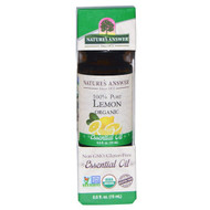 3 PACK OF Natures Answer, Organic Essential Oil, 100% Pure Lemon, 0.5 fl oz (15 ml)