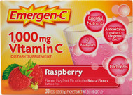 Emergen-C Vitamin C Fizzy Drink Mix Raspberry - 1000 mg - 30 Packets