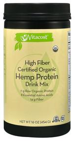 Vitacost Certified Organic Hemp Protein High Fiber Drink Mix - 16 oz (454 g)