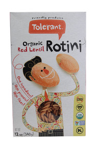 Tolerant Food, Organic Red Lentil Rotini - 12 oz