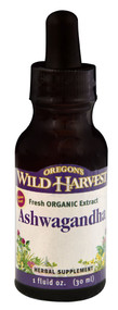 3 PACK of Oregons Wild Harvest Ashwagandha Herbal Supplement -- 1 fl oz