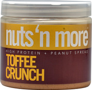 Nuts N More, High Protein Peanut Spread,  Toffee Crunch - 16 oz