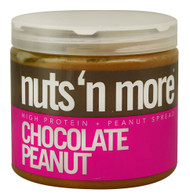 Nuts N More, High Protein Peanut Spread,  Chocolate Peanut - 16 oz
