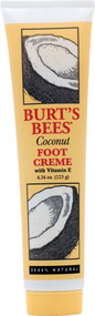 Burts Bees, Foot Creme With Vitamin E Coconut - 4.34 fl oz
