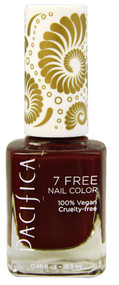 3 PACK of Pacifica 7 Free Nail Color Red Red Wine -- 0.45 fl oz