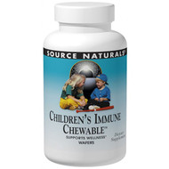 Source Naturals, Wellness, Childrens Immune Chewable, Delicious Berry Flavor, 30 Wafers