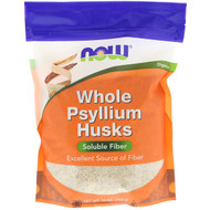 3 PACK of NOW Whole Psyllium Husks -- 16 oz