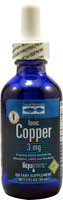 3 PACK of Trace Minerals Research Ionic Copper Dietary Supplement -- 3 mg - 2 fl oz