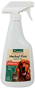 NaturVet, Herbal Flea Spray For Dogs & Cats - 16 fl oz