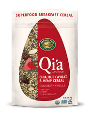 Natures Path, Organic Qia Superfood Chia-Buckwheat & Hemp Cereal,  Cranberry Vanilla - 7.9 oz