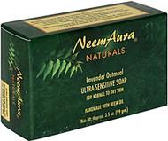 3 PACK of Neem Aura Naturals Ultra Sensitive Soap Lavender and Oatmeal -- 3.3 oz