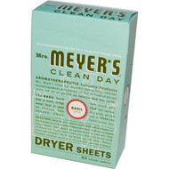 Mrs. Meyers Clean Day Dryer Sheets Basil -- 80 Sheets