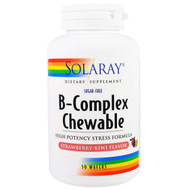Solaray, B-Complex Chewable, Strawberry-Kiwi Flavor, Sugar-Free, 50 Wafers