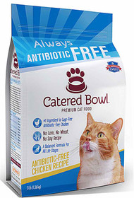Catered Bowl Always Antibiotic Free Premium Dry Cat Food Chicken Recipe - 3 lbs