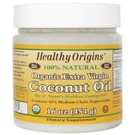 Healthy Origins Organic Extra Virgin Coconut Oil -- 16 oz