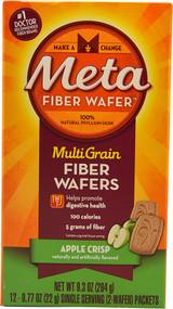 Metamucil Meta MultiGrain Fiber Wafers Apple Crisp - 12 Packets
