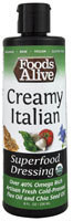 3 PACK of Foods Alive Organic Superfood Dressing Creamy Italian -- 8 fl oz