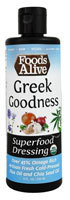 Foods Alive Superfood Dressing  Greek Goodness - 8 fl oz