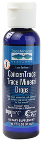 3 PACK of Trace Minerals Research ConcenTrace Trace Mineral Drops -- 2 fl oz