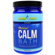 Natural Vitality, Natural Calm Bath, Unscented, 20 oz