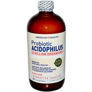 American Health Probiotic Acidophilus Plain -- 20 billion - 16 fl oz