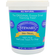 3 PACK OF Stewart, Pro-Treat, Freeze Dried Treats, For Dogs, Beef Liver, 4 oz (113.4 Grams)