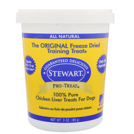 3 PACK OF Stewart, Pro-Treat, Freeze Dried Treats, For Dogs, Chicken Liver, 3 oz (85 g)