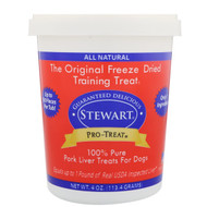 3 PACK OF Stewart, Pro-Treat, Freeze Dried Treats, For Dogs, Pork Liver, 4 oz (113.4 g)