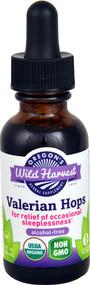 3 PACK of Oregons Wild Harvest Organic Valerian Hops -- 1 fl oz