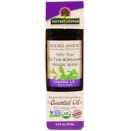 Natures Answer, 100% Pure, Organic Blend Essential Oil, Tea Tree Spearmint , 0.5 fl oz (15 ml)
