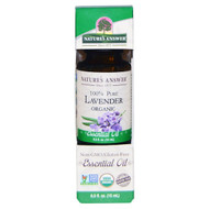 Natures Answer, Organic Essential Oil, 100% Pure Lavender, 0.5 fl oz (15 ml)