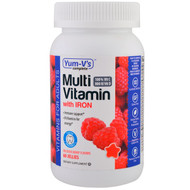 Yum-Vs, Multivitamin with Iron, Delicious Berry Flavors, 60 Jellies