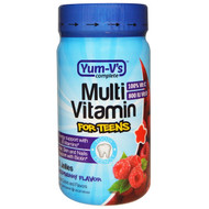 3 PACK OF Yum-Vs, Multi Vitamin for Teens, Raspberry Flavor, 60 Jellies