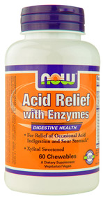 Now Foods, Acid Relief with Enzymes, 60 Chewables