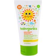 3 PACK OF BabyGanics, Pure Mineral Sunscreen Lotion, SPF 30, 4 oz (118 ml)